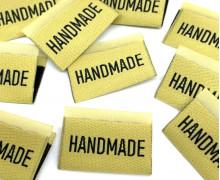 1 Label - HANDMADE - Pastellgelb