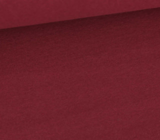 Baumwoll-Fleece - Uni - 290g - Bordeaux