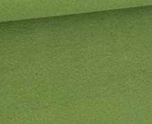 Baumwoll-Fleece - Uni - 290g - Farngrün