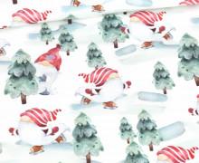Sommersweat - Christmas Gnome - Rot - Weihnachten - Weiß - Bio Qualität - abby and me