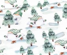 Sommersweat - Christmas Gnome - Grün - Weihnachten - Weiß - Bio Qualität - abby and me
