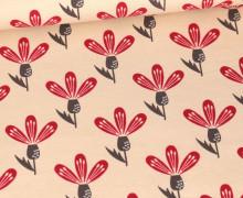 Jersey - Floral Art - Beige