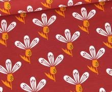 Jersey - Floral Art - Terracotta