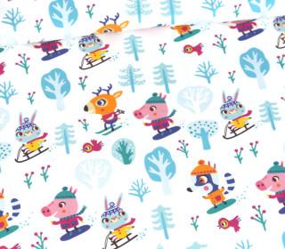 Sommersweat - Schneegestöber - Skipiste - Weihnachten - Weiß - Bio Qualität - abby and me
