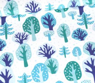 Sommersweat - Schneegestöber - Bäume - Weihnachten - Weiß - Bio Qualität - abby and me