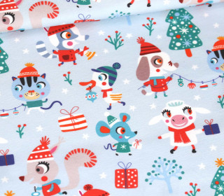 Sommersweat - Schneegestöber - Gewusel - Miniedition - Weihnachten - Hellblau - Bio Qualität - abby and me
