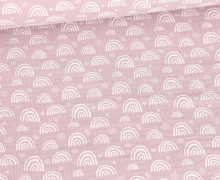Musselin - Muslin - Kleine Regebögen - Double Gauze - Altlavendel
