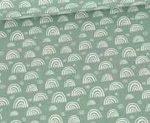 Musselin - Muslin - Kleine Regebögen - Double Gauze - Lichtgrün