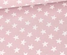 Musselin - Muslin - Wie Gemalte Sterne - Double Gauze - Altlavendel