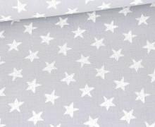 Musselin - Muslin - Wie Gemalte Sterne - Double Gauze - Hellgrau