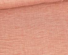 Musselin - Muslin - Meliert - Double Gauze - Rostorange