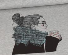 Sommersweat - Cozy Girl - Paneel - Grau Meliert - abby and me