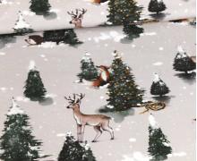 Sommersweat - Winterwald - Weihnachten - Grau - Bio Qualität - Make Art Berlin - abby and me