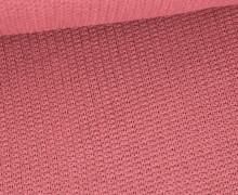 Weicher Seemanns Strick - Strickstoff - Baumwolle - Uni - Altrose