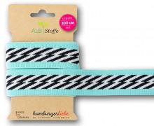 Streifenband - Stripe Me - Icon - Schrägstreifen - Sweet Home - Weiß/Schwarz - Multi - Hamburger Liebe