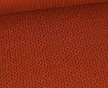 Bio-Elastic Minijacquard Jersey - 3D - Big Knit - Sweet Home - Hamburger Liebe - Rostorange