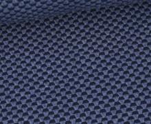 Bio-Elastic Minijacquard Jersey - 3D - Double Knit - Sweet Home - Hamburger Liebe - Taubenblau