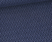Bio-Elastic Minijacquard Jersey - 3D - Comfy Knit - Sweet Home - Hamburger Liebe - Taubenblau