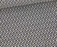 Bio-Elastic Minijacquard Jersey - 3D - Comfy Knit - Sweet Home - Hamburger Liebe - Weiß