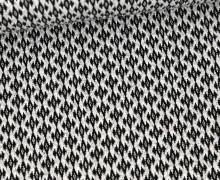 Bio-Elastic Minijacquard Jersey – 3D – Cottage Knit – Sweet Home – Hamburger Liebe – Warmweiß