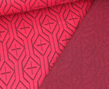 Bio-Jacquard Stepp-Jersey – Doubleface – Snuggle Step-  Sweet Home – Pink – Hamburger Liebe