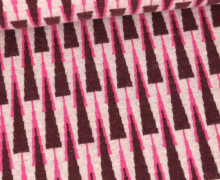 Bio-Jacquard - 3 Farb Spezial Jacquard Jersey - Neat & Sweet - Wooltouch - Sweet Home - Bordeaux - Hamburger Liebe