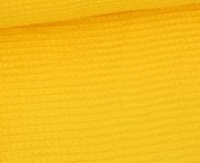 Waffel Piqué – Baumwolle – Gelb