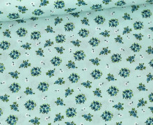 Baumwolle - Webware - Little Cute Roses - Pastellgrün