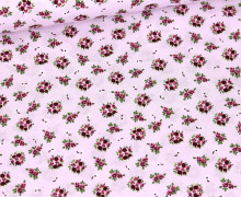 Baumwolle - Webware - Little Cute Roses - Pastellviolett