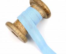 1 Bund Schrägband - 3 Meter - Zugeschnitten - Baumwolle - 20mm - Hellblau