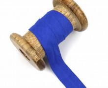 1 Bund Schrägband – 3 Meter – Zugeschnitten – Baumwolle – 20mm – Royalblau