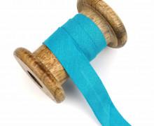 1 Bund Schrägband - 3 Meter - Zugeschnitten - Baumwolle - 20mm - Cyan