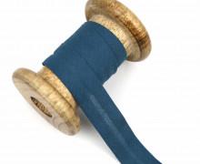 1 Bund Schrägband - 3 Meter - Zugeschnitten - Baumwolle - 20mm - Petrol