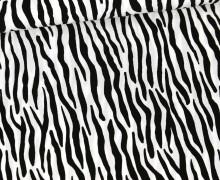 Viskose - Blusenstoff - Radiance - Zebramuster - Weiß