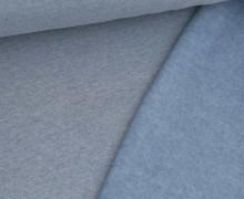 Leichter Kuschelsweat - Melange - 260g - Taubenblau