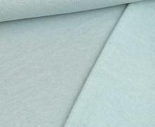 Leichter Kuschelsweat - Melange - 260g - Pastelltürkis
