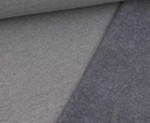 Leichter Kuschelsweat - Melange - 260g - Dunkelgrau