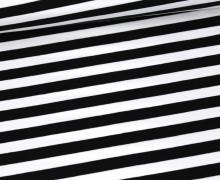 Sommersweat - French Terry - 1cm breite Streifen - Weiß/Schwarz