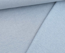 Leichter Kuschelsweat - Melange - 260g - Hellblau