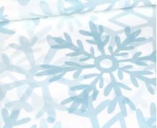 Sommersweat - Snowflakes Big - Winter - Paneel - Weiß - Bio Qualität - abby and me