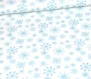 Sommersweat – Snowflakes Small – Winter – Weiß – Bio Qualität – abby and me