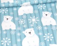 Sommersweat - Polar Bear - Winter - Türkis - Bio Qualität - abby and me