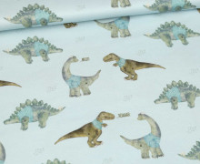 Modal Jersey - Dinobande - Brachiosaurus - Dinos - Kombistoff - Bio-Qualität - Treeebird - abby and me