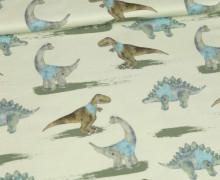 Modal Jersey - Dinobande - TRex - Dinos - Kombistoff - Bio-Qualität - Treeebird - abby and me