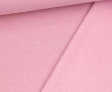 Leichter Kuschelsweat - Melange - 260g - Babyrosa