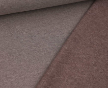 Leichter Kuschelsweat - Melange - 260g - Dunkelbraun