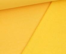 Kuschelsweat Light - Uni - Hellgelb Meliert - Sweat Angeraut