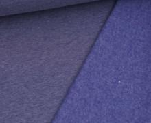 Kuschelsweat Light - Uni - Dunkelblau Meliert - Sweat Angeraut
