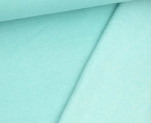 Kuschelsweat Light - Uni - Mint Meliert - Sweat Angeraut
