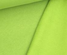 Kuschelsweat Light - Uni - Gelbgrün - Sweat Angeraut